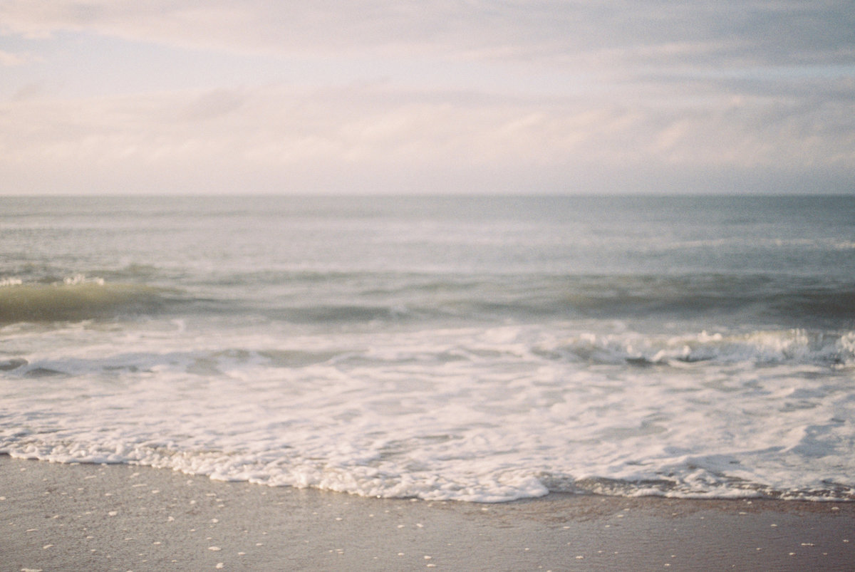 flowy beach engagement session
