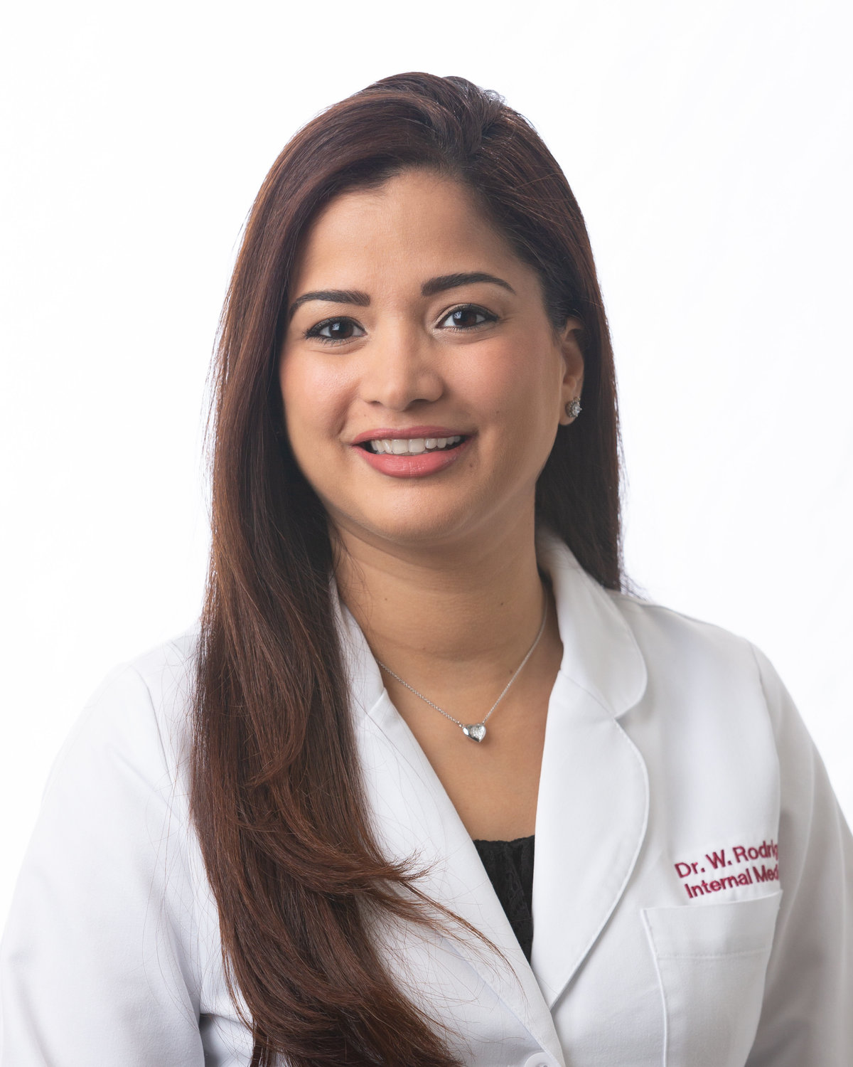 Portrait of Wilsania Rodriguez for her medical practice.