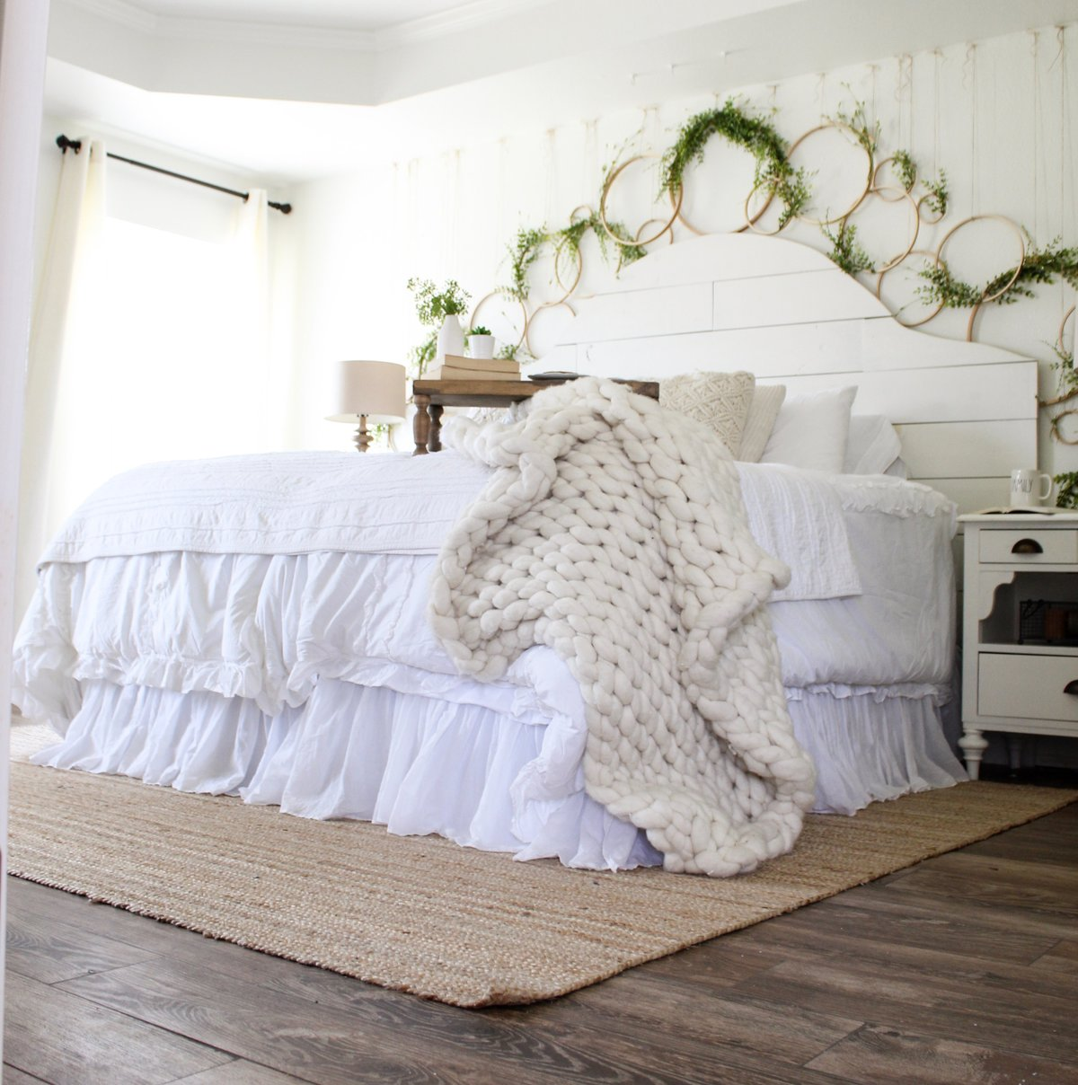 CottonStem.com farmhouse bedroom shiplap white-2