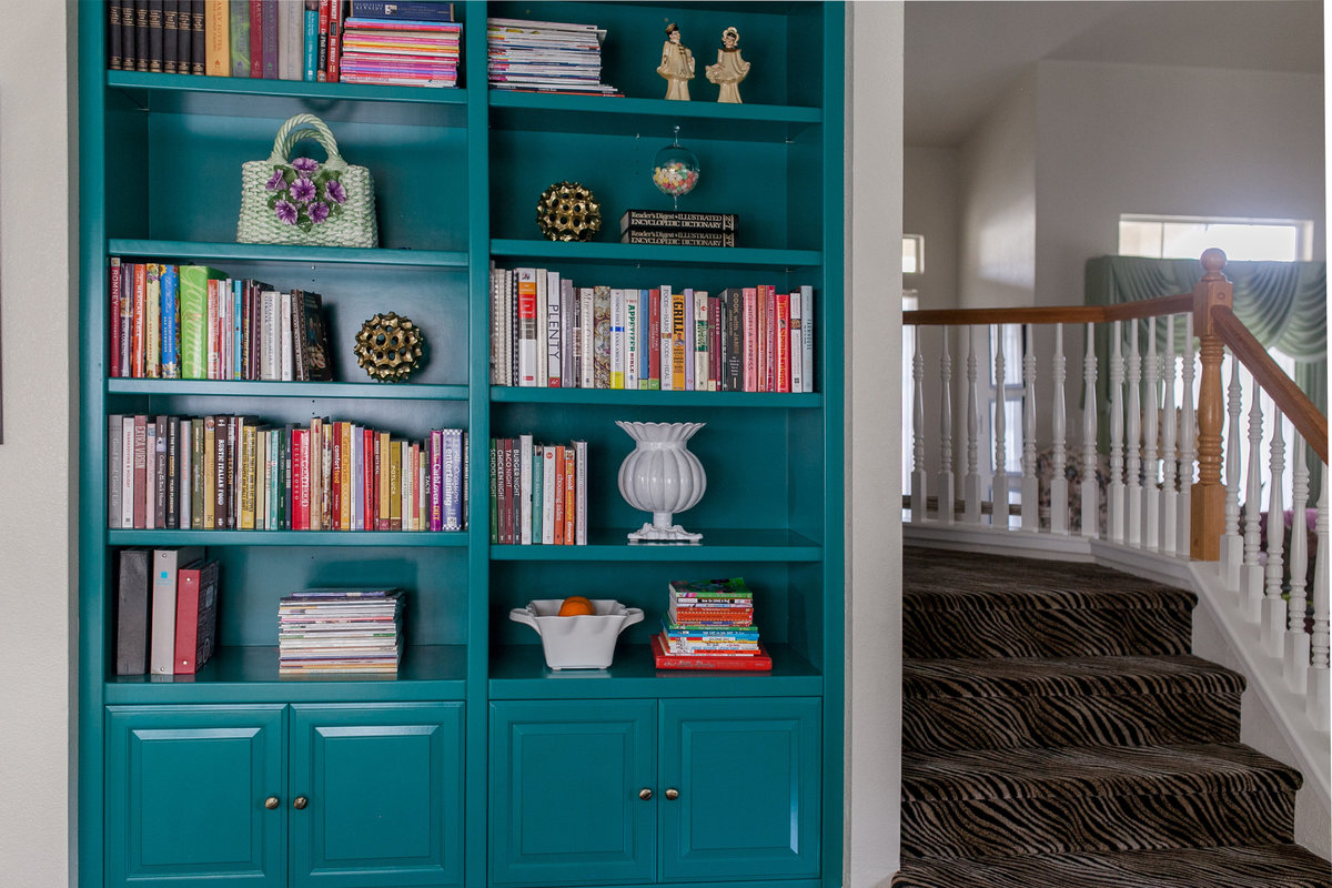 Custom Bookcase Cabinet - Cowan's Cabinet Co.