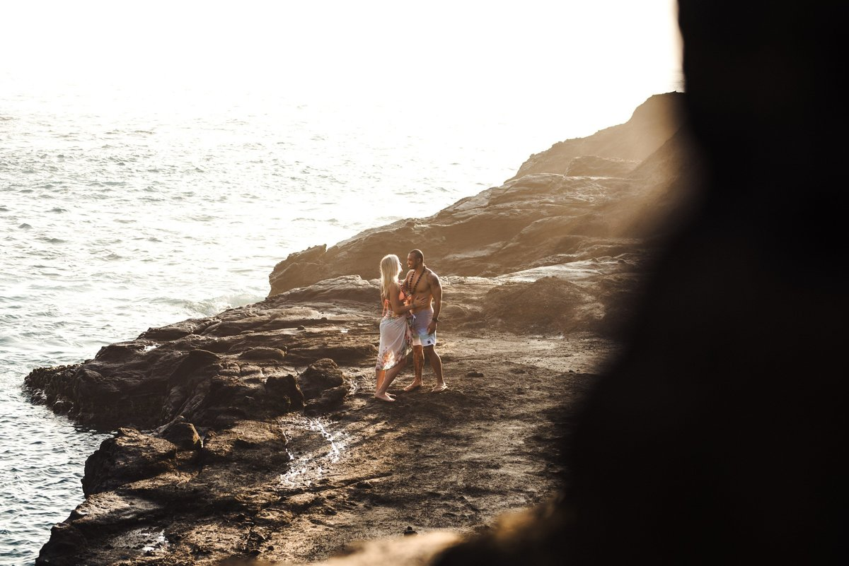Eternity Beach Honolulu Hawaii Destination Engagement Session - 42