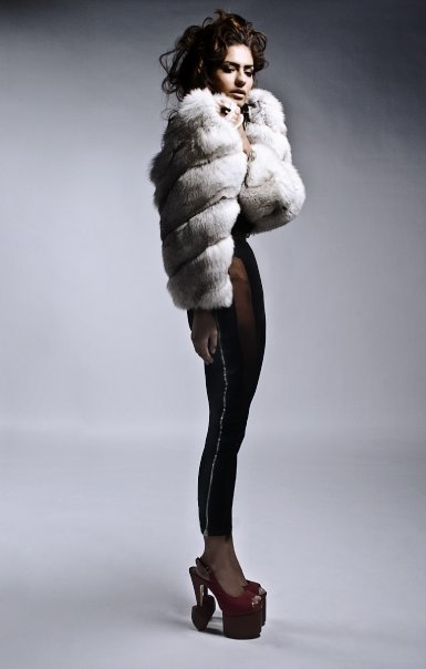 Mink Coat standing tall