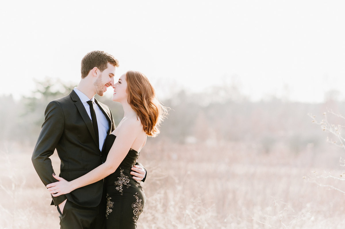 danada-forest-preserve-engagement-black-tie-formal-gown-photo