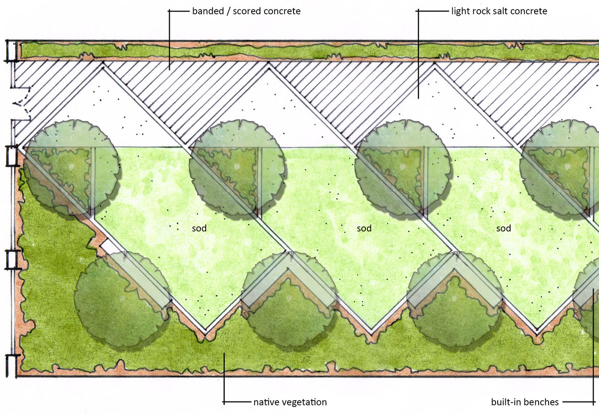 Northwest Middle School - Central Courtyard Schematic