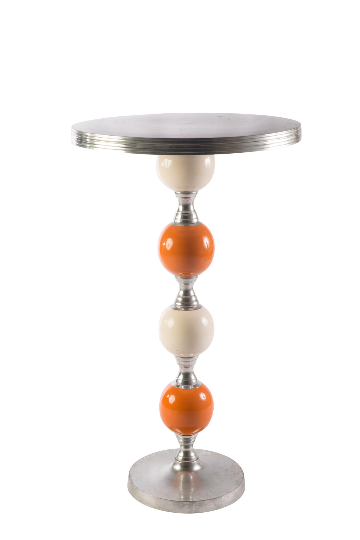 White Orange Joya Highboy Table