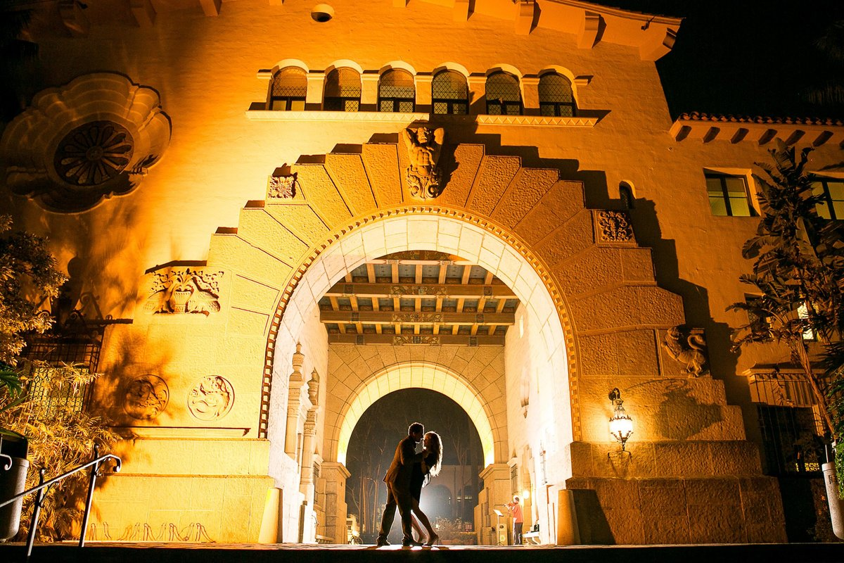 Santa Barbara City hall Engagement Photos