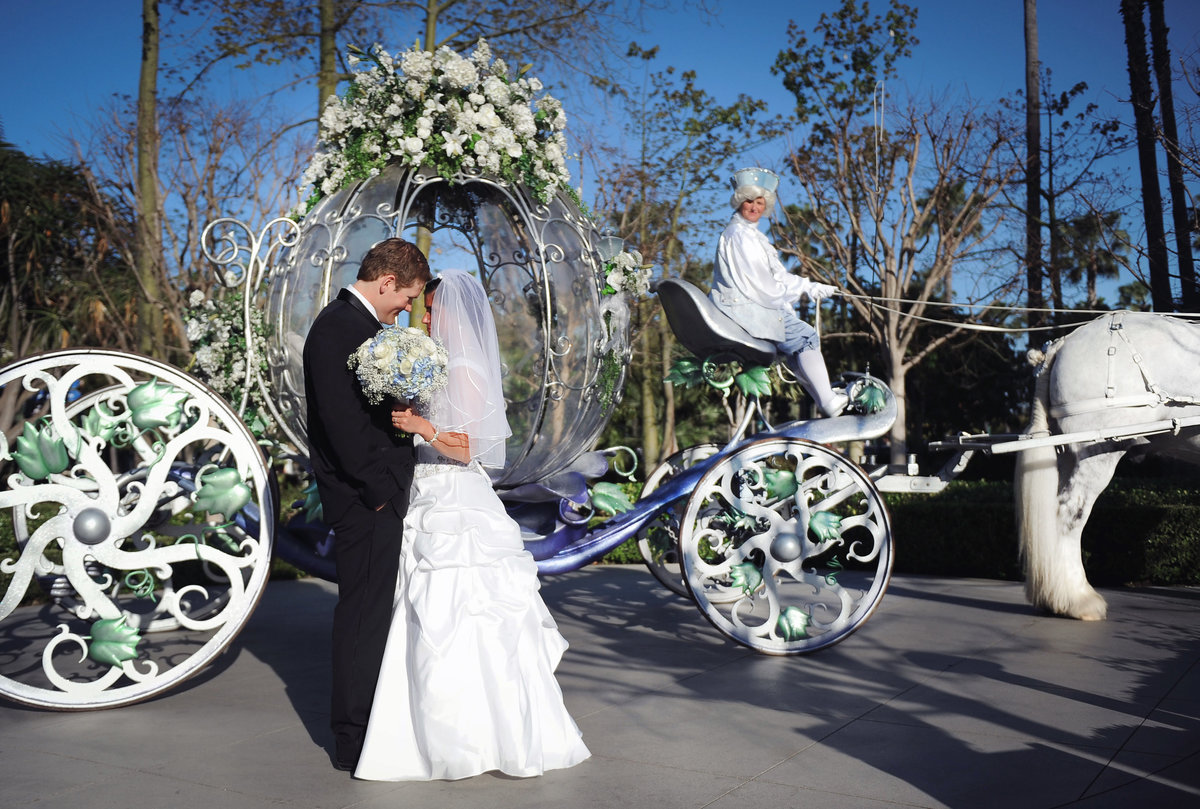Disneyland wedding with Cinderella's Carriage