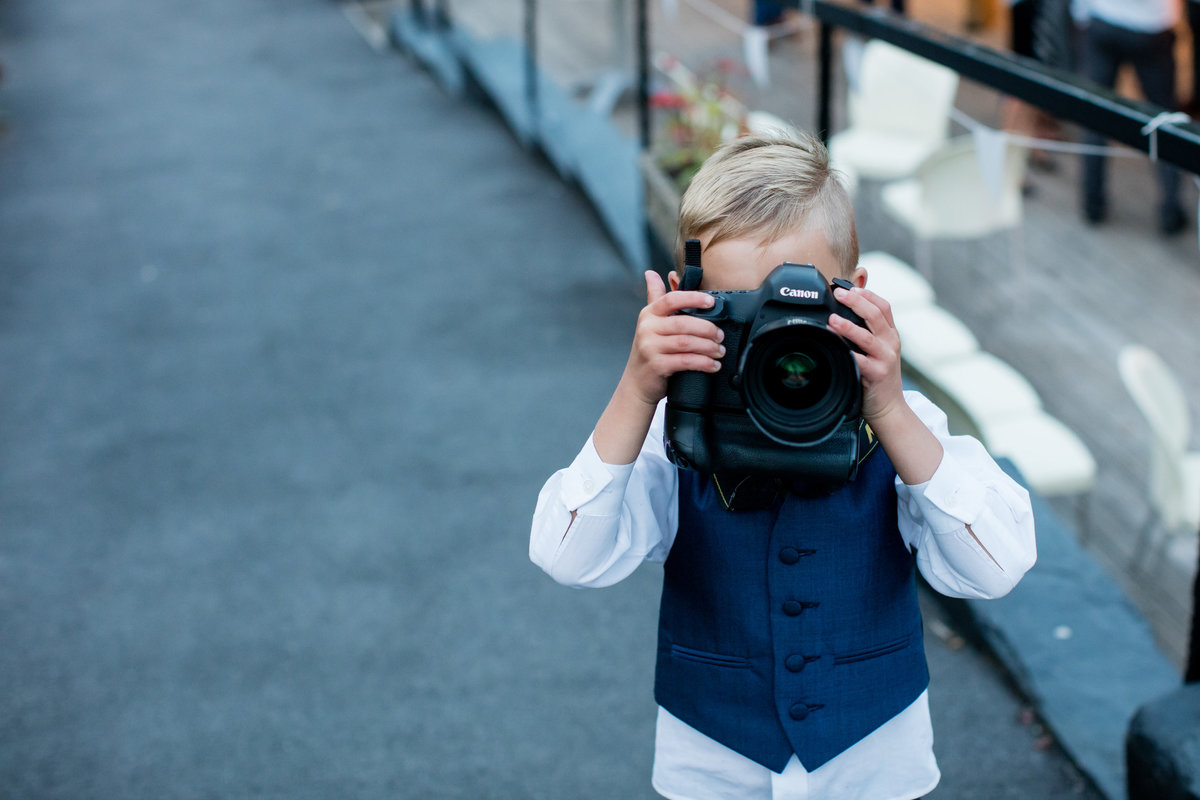 photos of the photographer at devon wedding