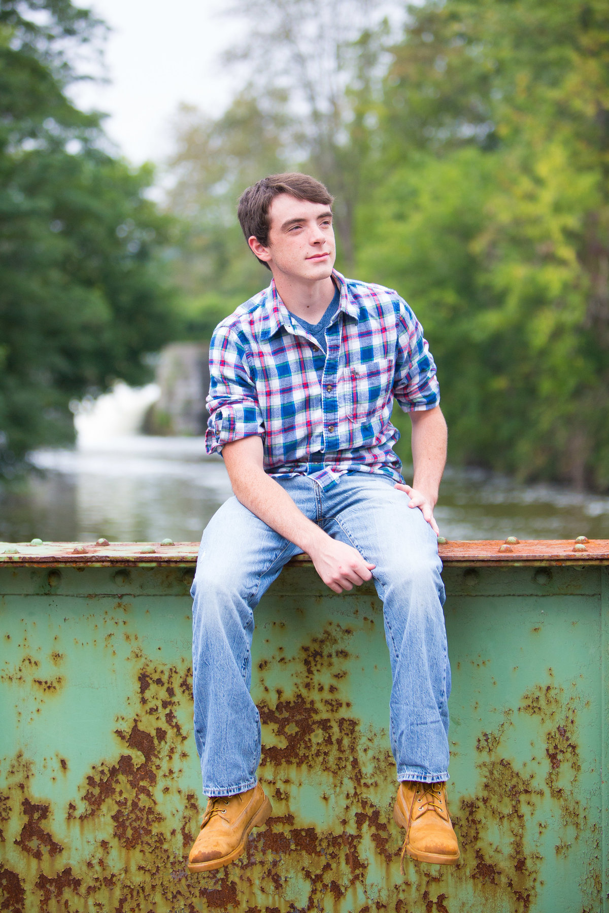 Senior Portrait on bridge