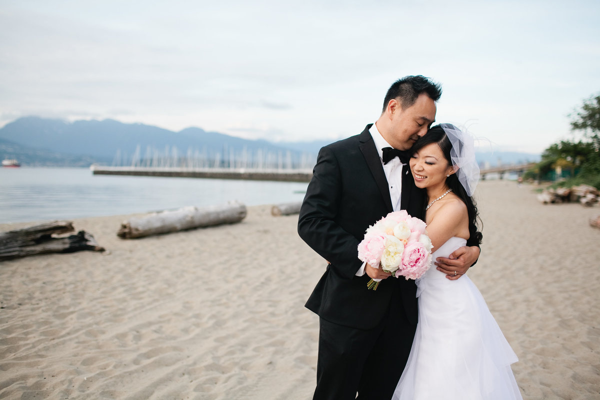 jericho beach wedding photos