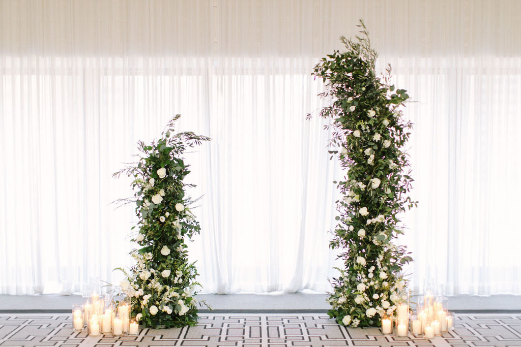 Langham Chicago Wedding with Suspended Greenery Centerpieces_6