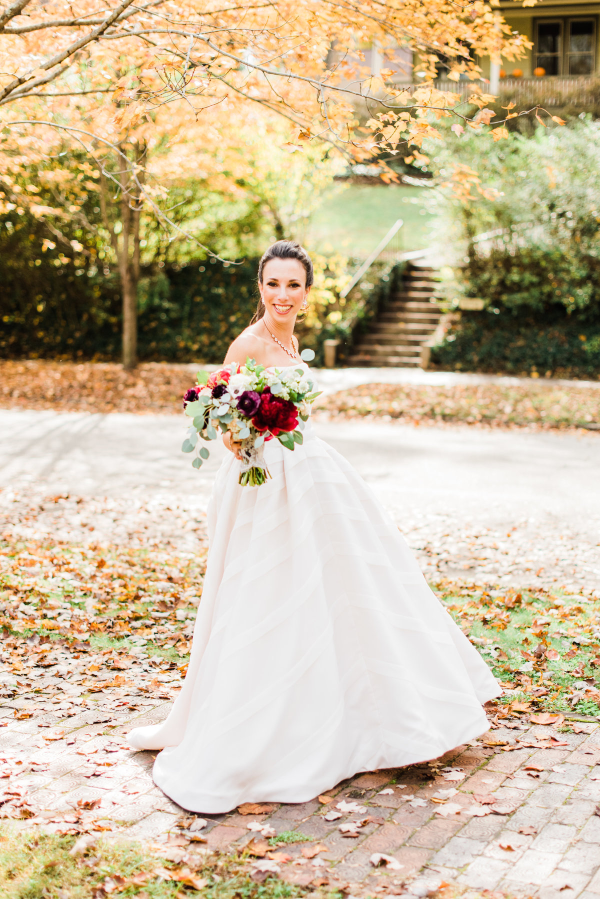 asheville fall bridal portrait photo