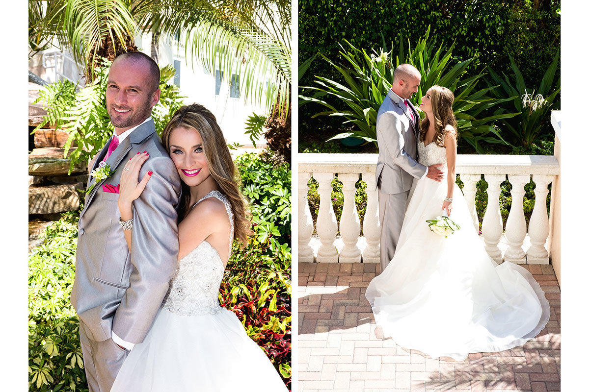 hilton naples wedding grey metallic tux
