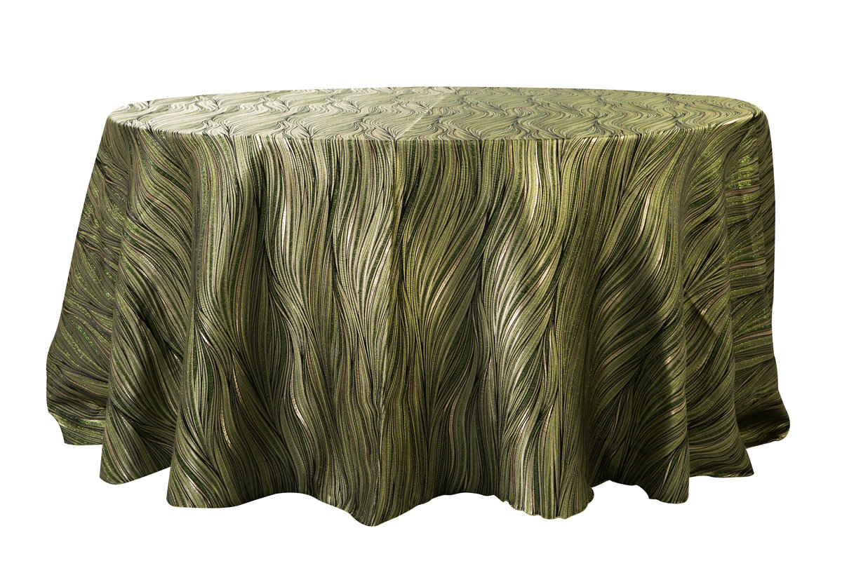 132'' Rd Green Amazon Tablecloth