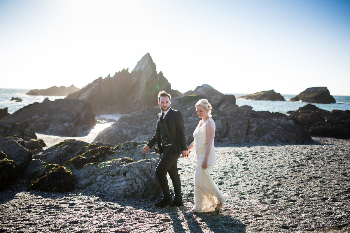 wedding photographer in ilfracombe north devon