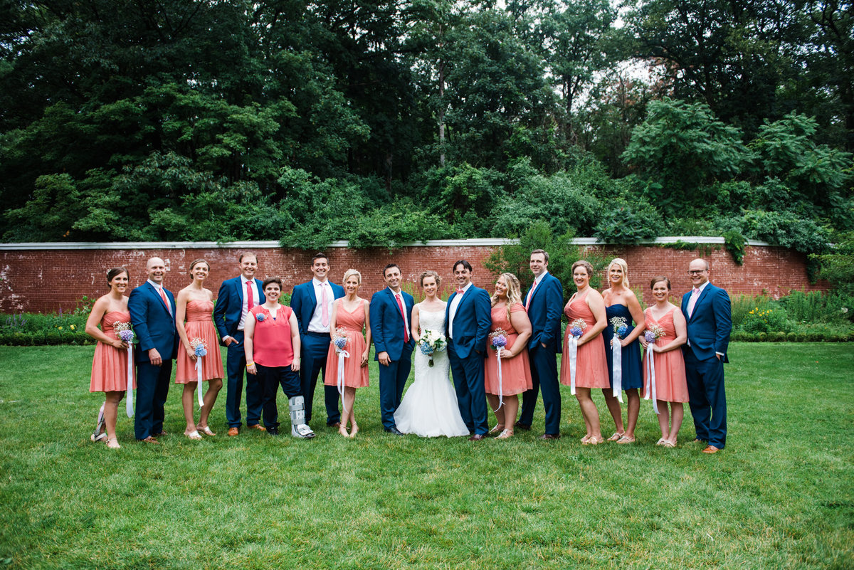 wedding party at Lyman Estate