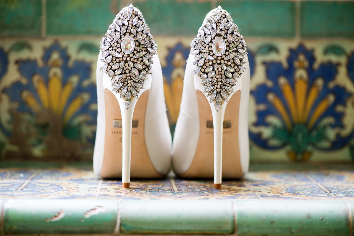 Badgley Mischka Wedding Shoes Biltmore Hotel Wedding