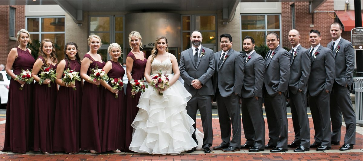 Wedding party at the Hilton Alexandria, Old Town Alexandria, VA