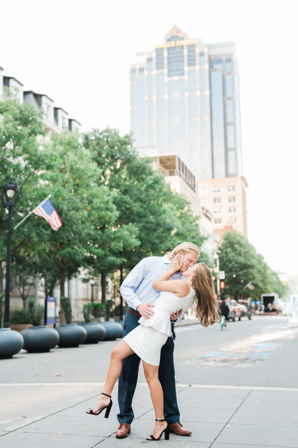 Downtown Raleigh engagement session