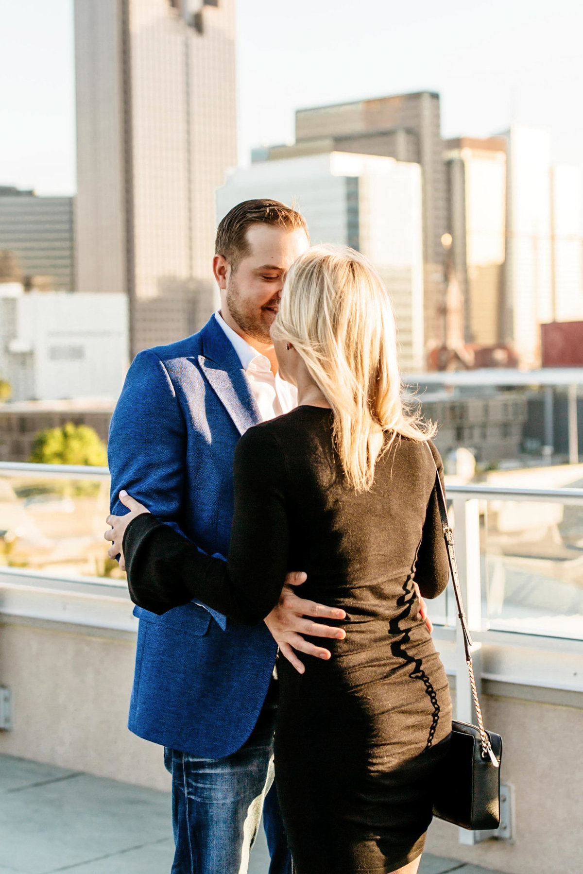Eric & Megan - Downtown Dallas Rooftop Proposal & Engagement Session-16