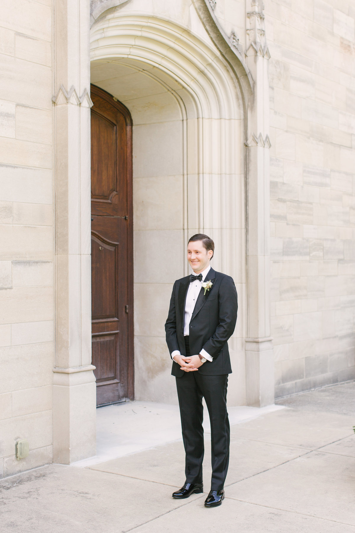 Scottish Rite Cathedral Wedding First Look Photo