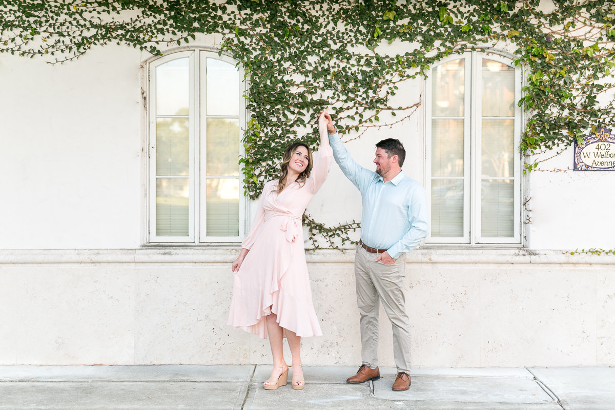Rachel and Justin Winter Park Engagement session | Rollins College engagement_-10