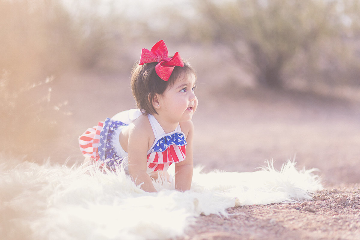 Independence Day 4th of July First Birthday Photography by Plume Designs & Photography of Scottsdale, Arizona