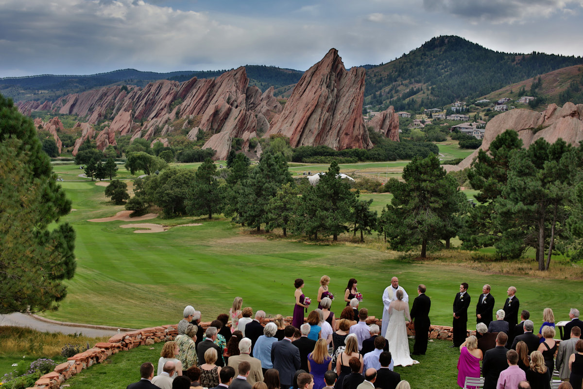 view of Arrowhead Golf Course wedding day