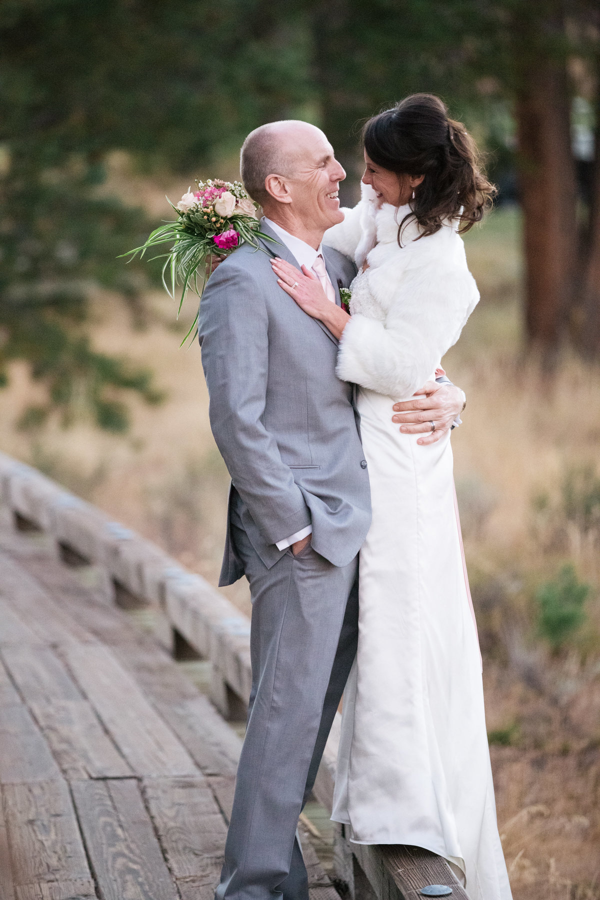 bride and groom at Tahoe Mountain Club