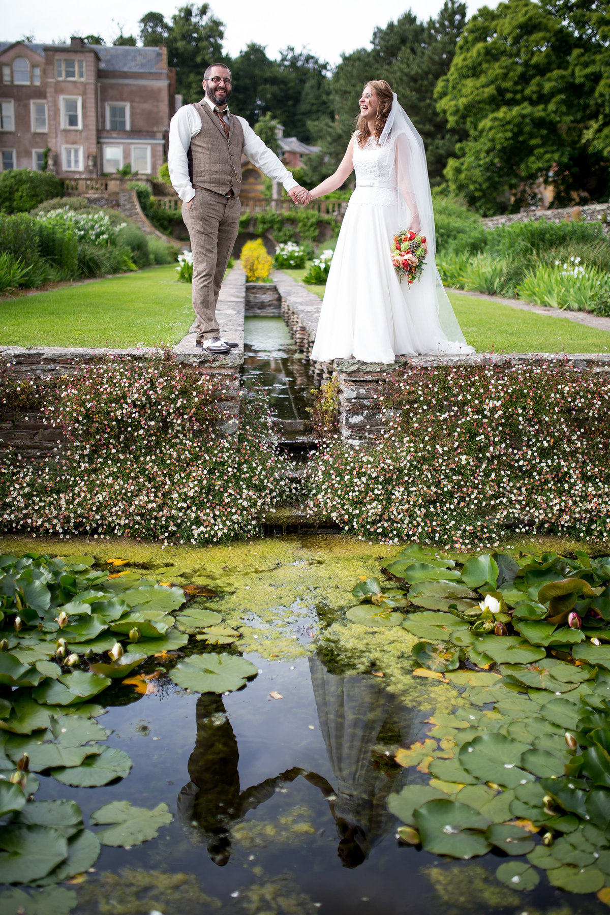 hestercombe summer wedding in the gardens