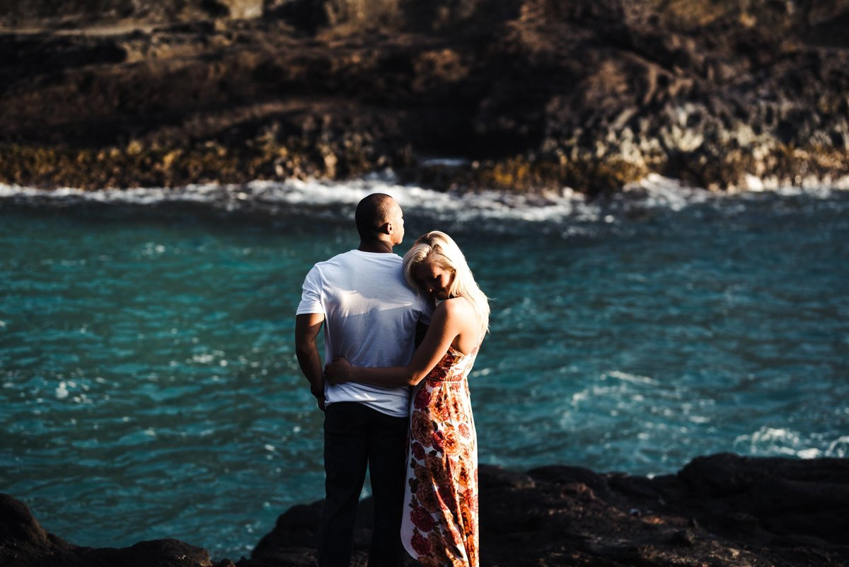 Eternity Beach Honolulu Hawaii Destination Engagement Session - 37