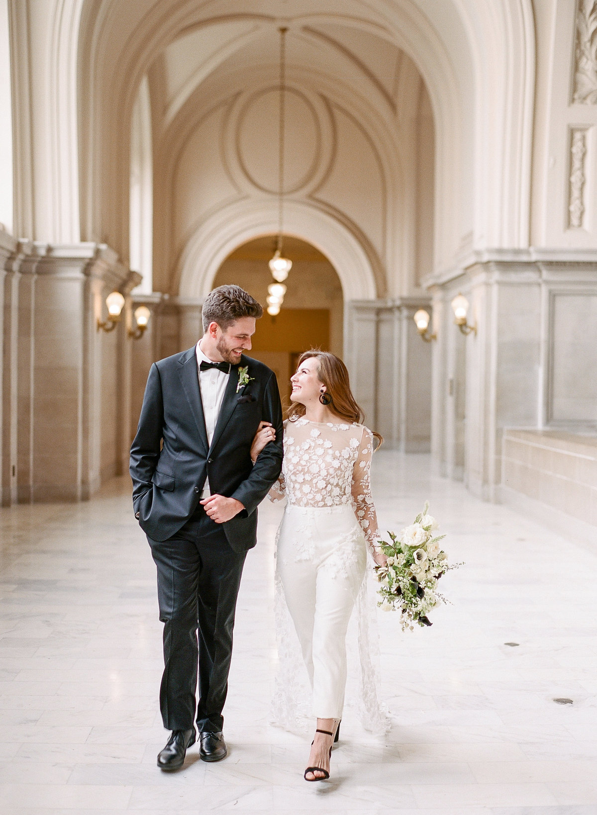 San Francisco City Hall Wedding with Jumpsuit-1