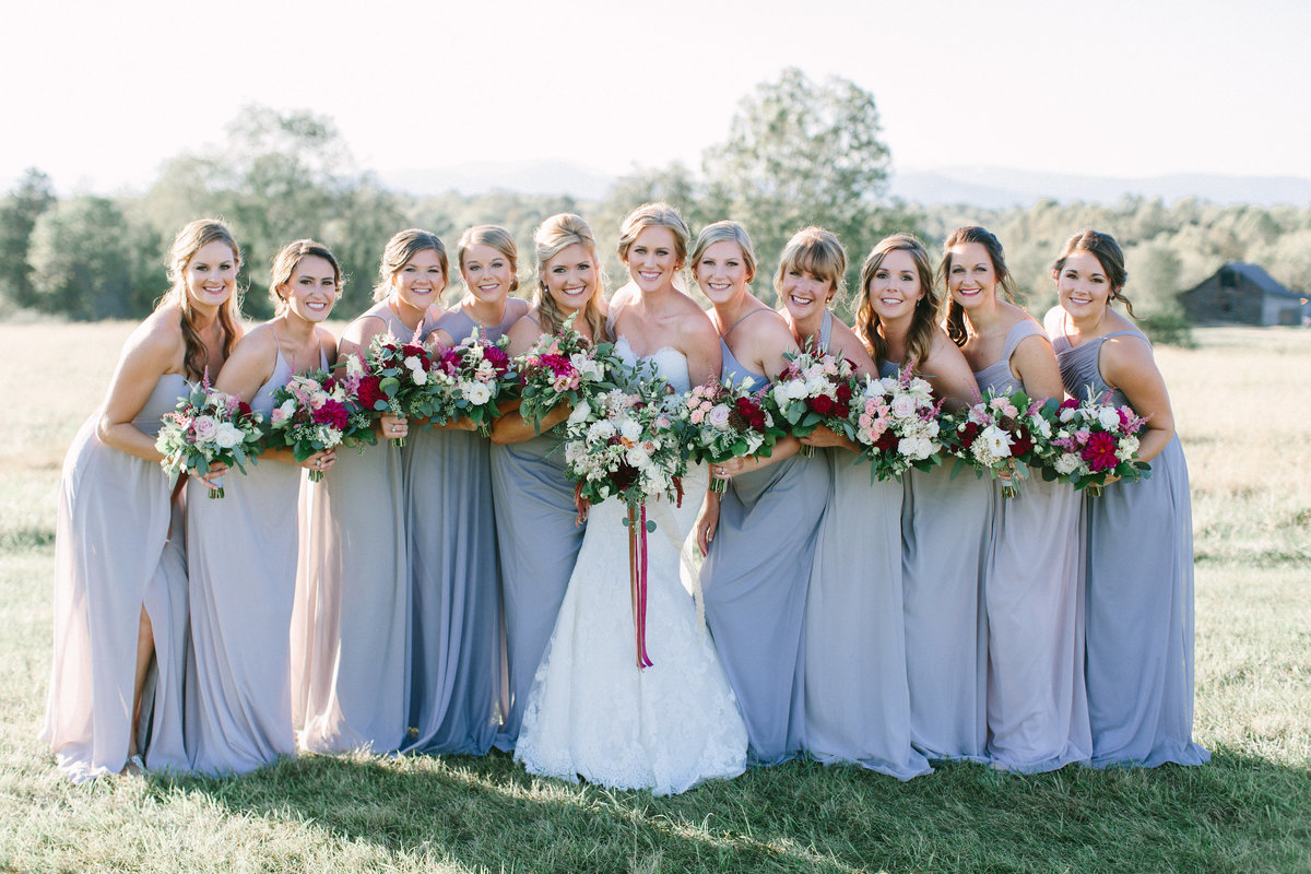 Bridesmaids at Panorama Farms in Charlottesville, VA