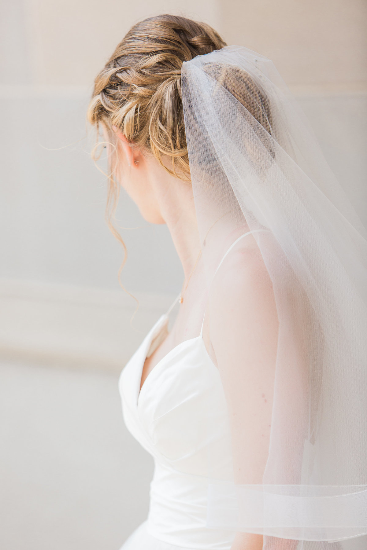 Basilica of the Sacred Heart Wedding Veil Photo