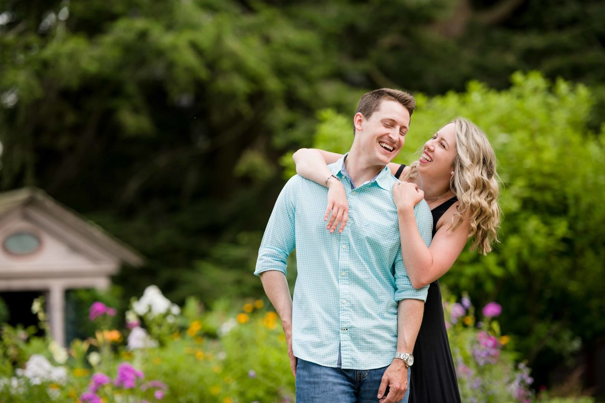 13 candid engagement photos with flower garden connecticut