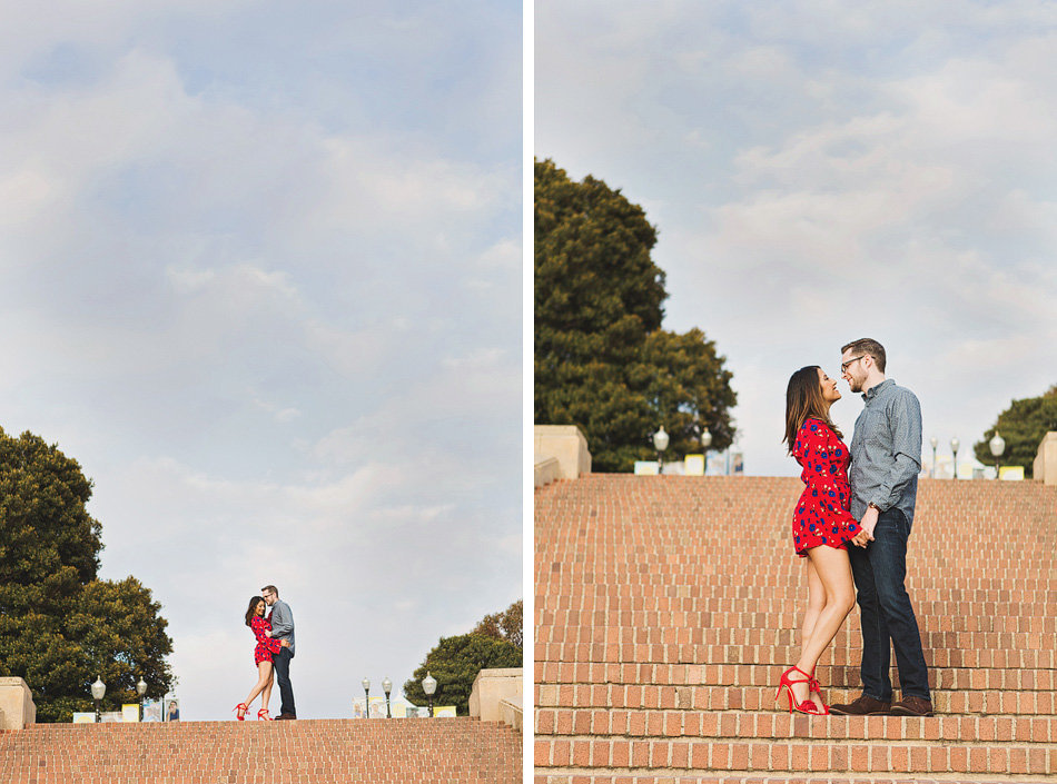 engagement photos at UCLA