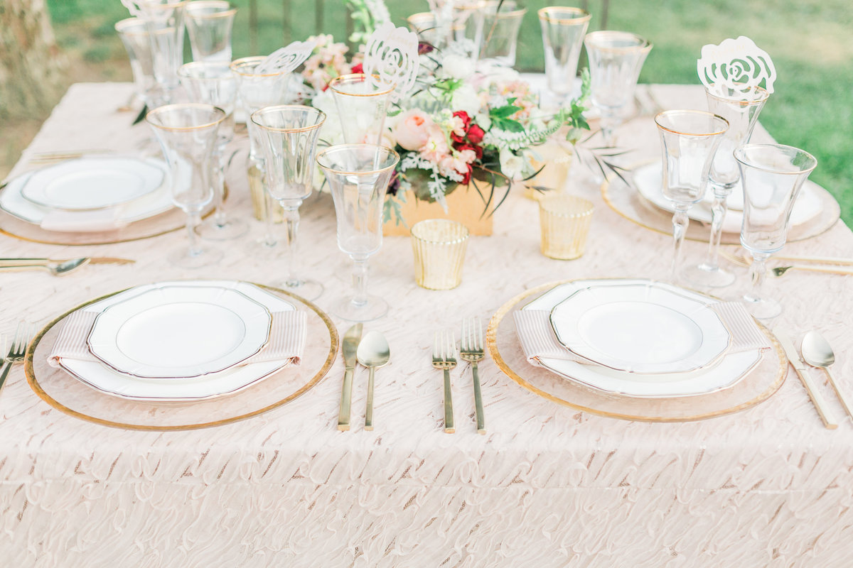 Chic French Outdoor Table Setting