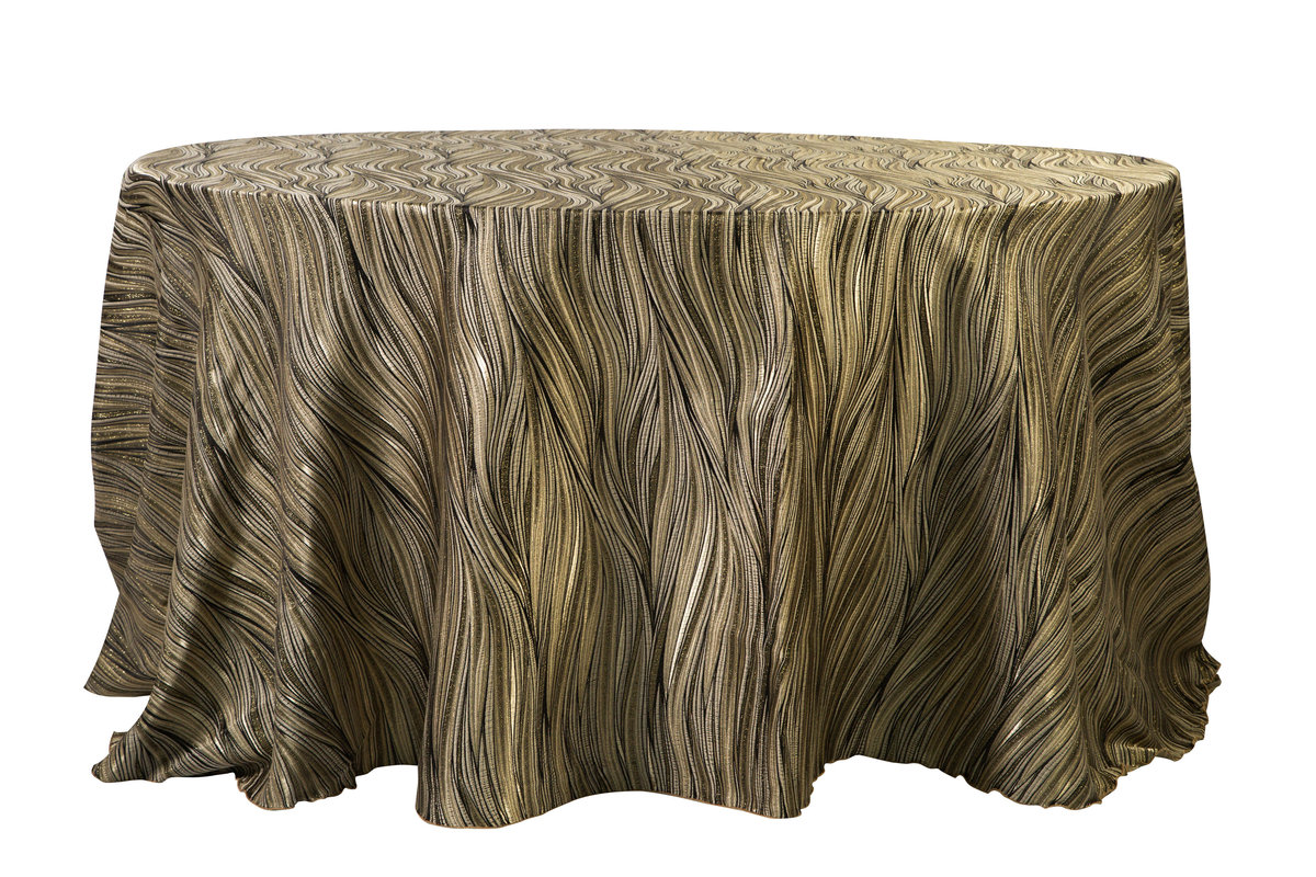 132'' Rd Gold Amazon Tablecloth