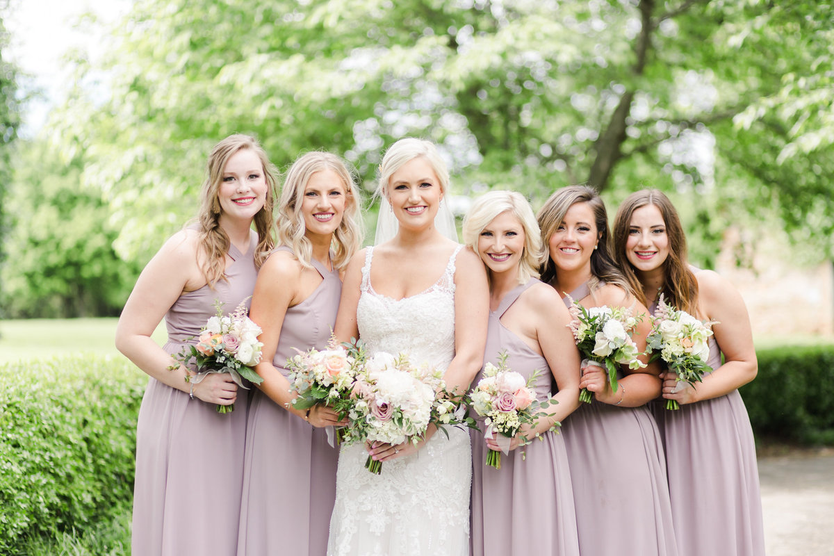 Bride and Bridesmaids at Haseltine Estate