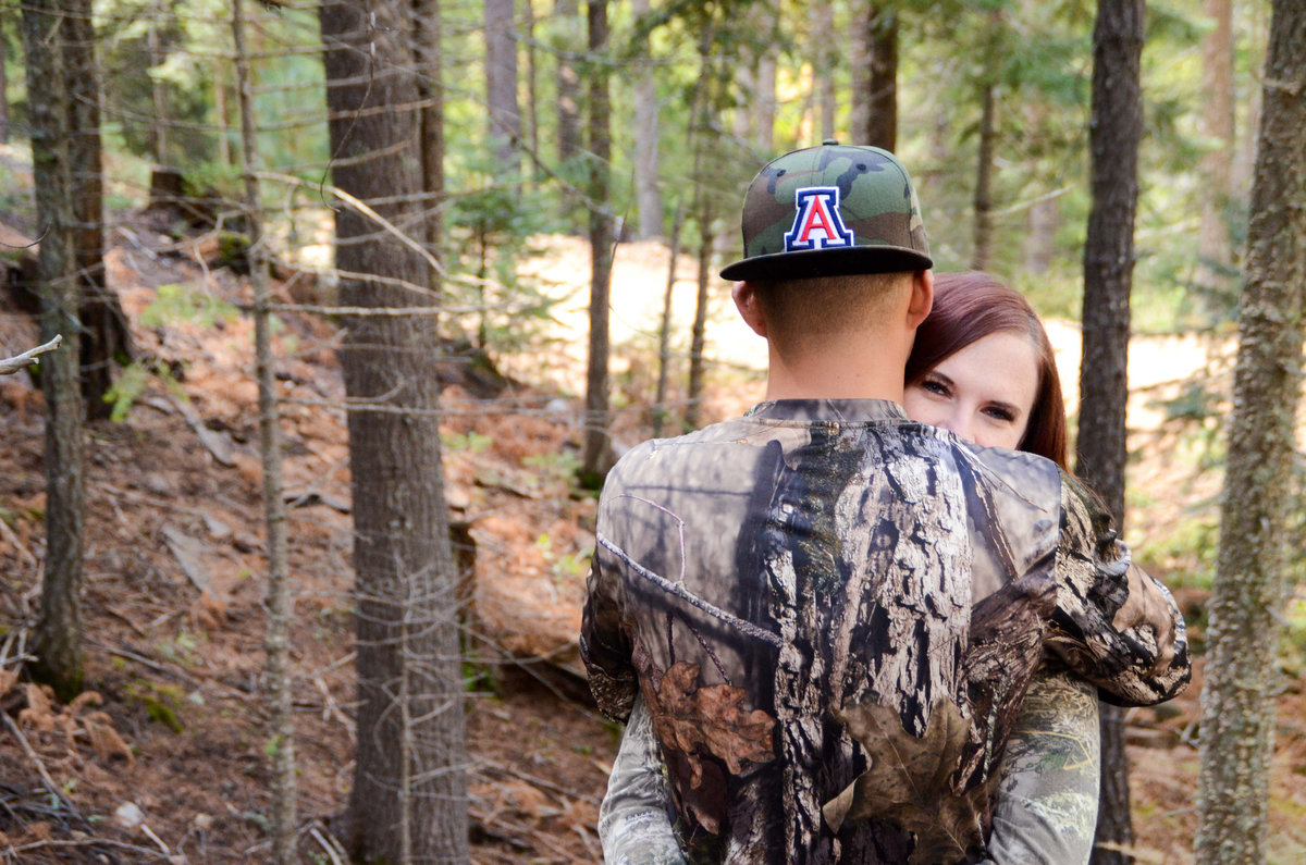 Mt Lemmon Tucson Arizona Archery Hunting Inspired Portrait Session Casey and Miriam-61