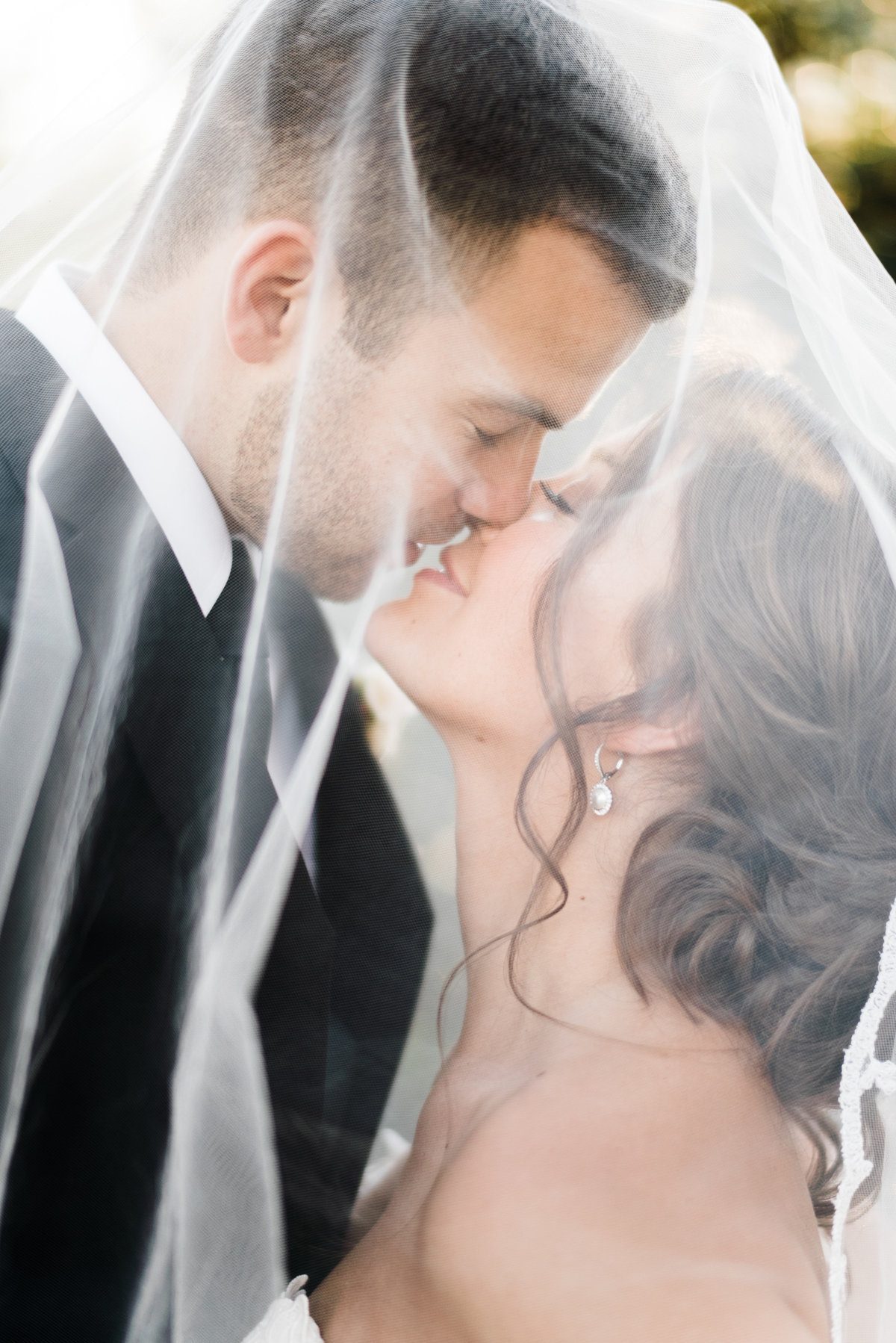 romantic fine art wedding portrait