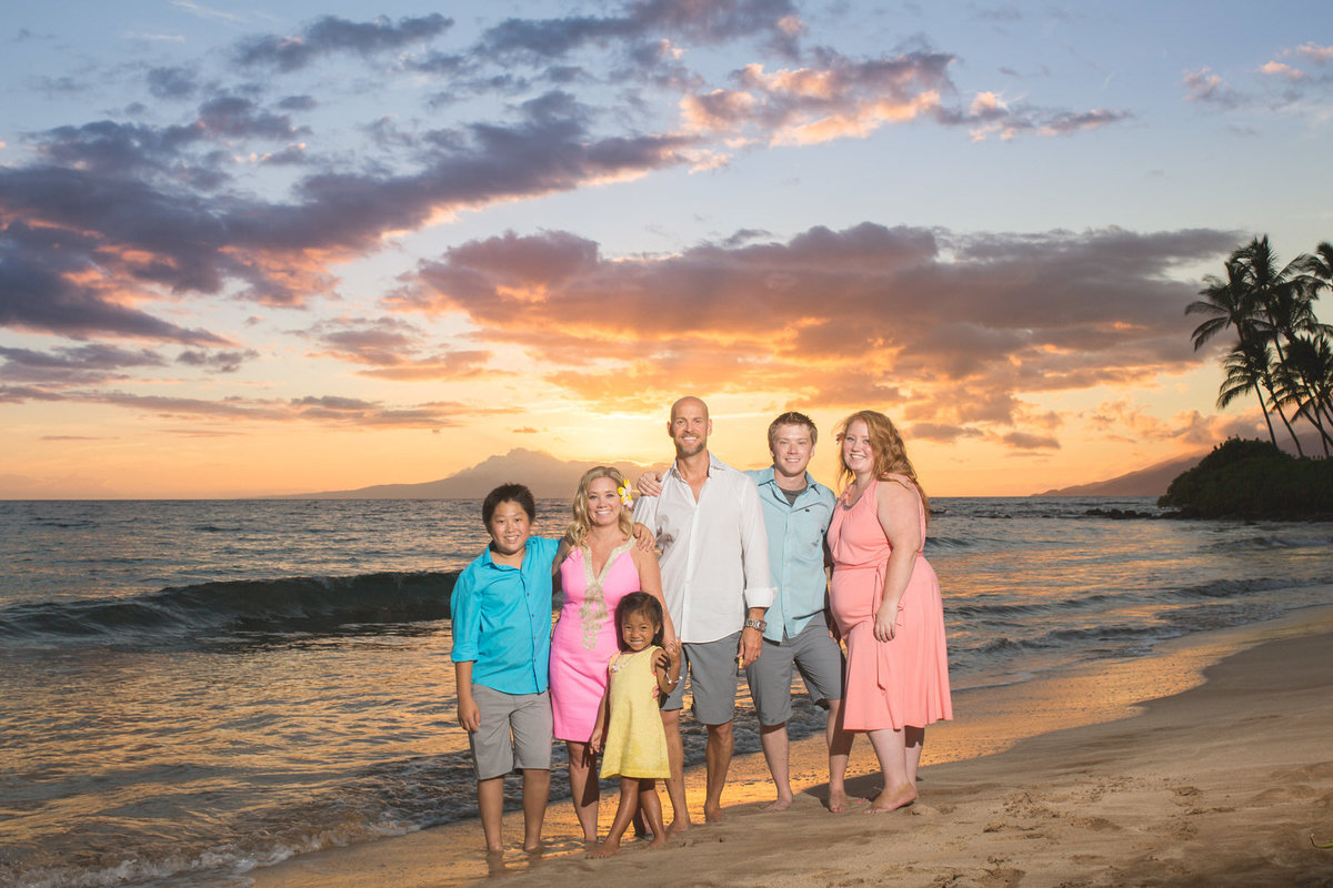 Maui family portraits at Sunset