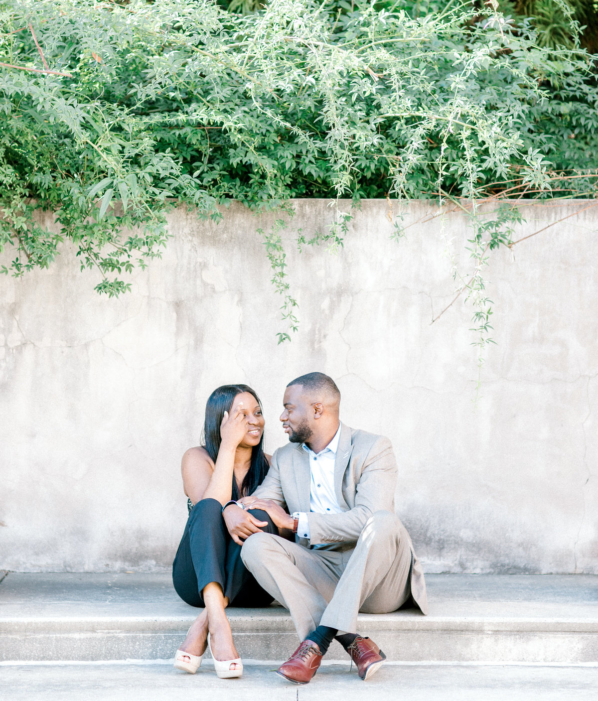 atlanta photography engagement session millennium gate museum