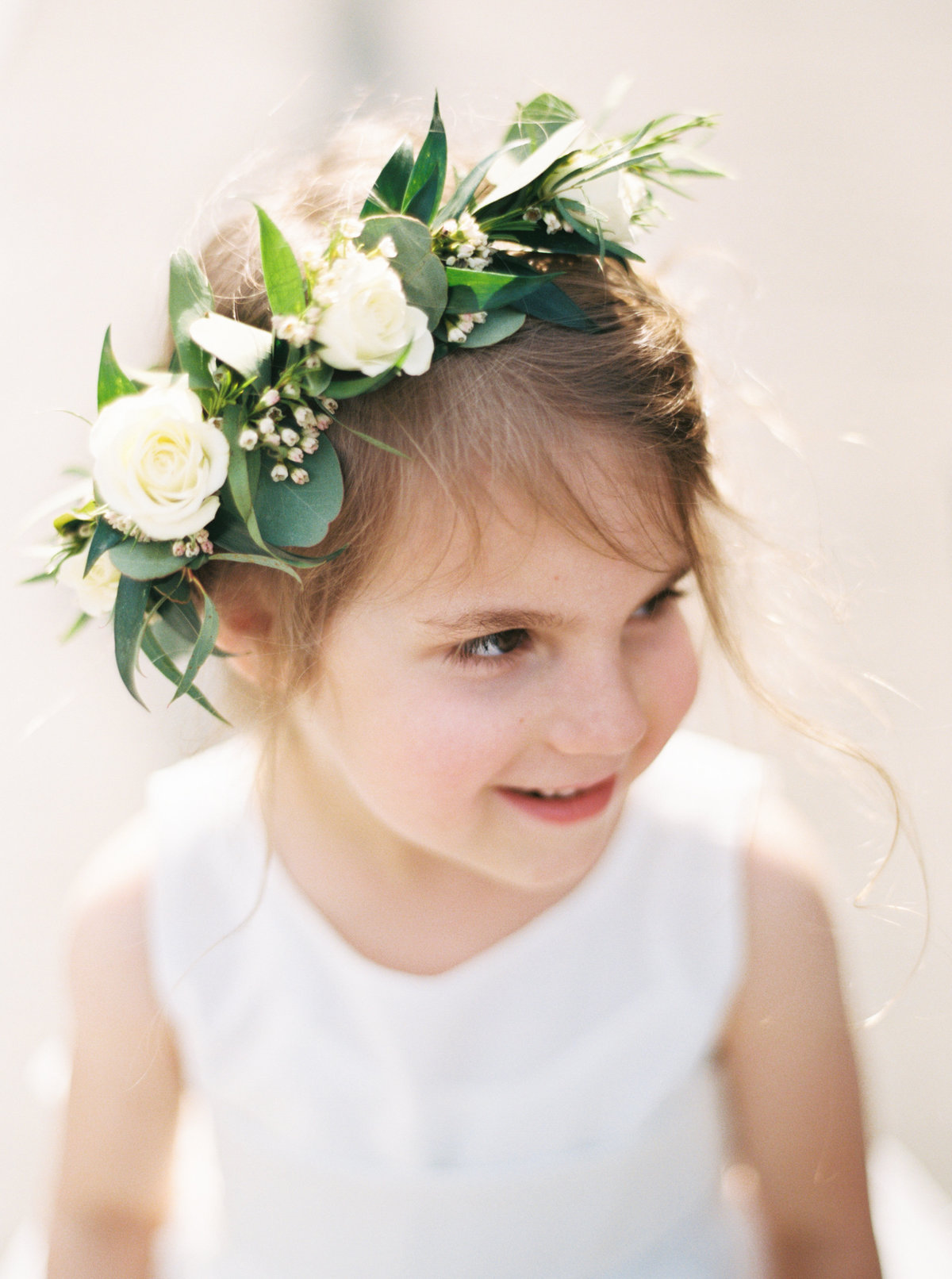 flower girl flower crown boston wedding photographer