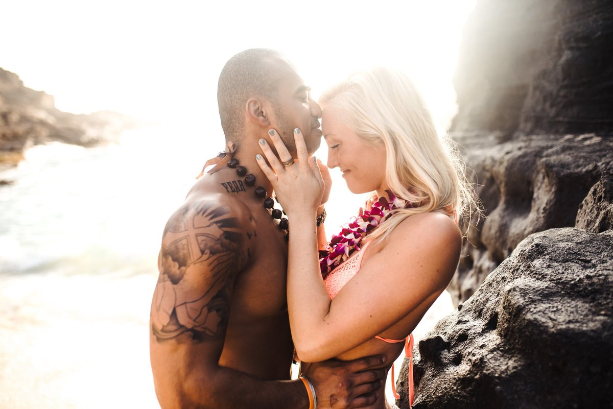 Eternity Beach Honolulu Hawaii Destination Engagement Session - 75