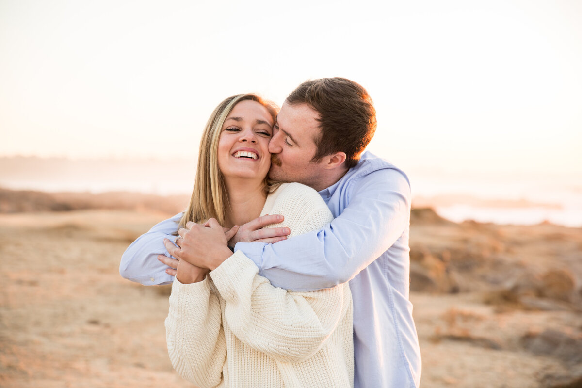 Asilomar Beach engagement photos