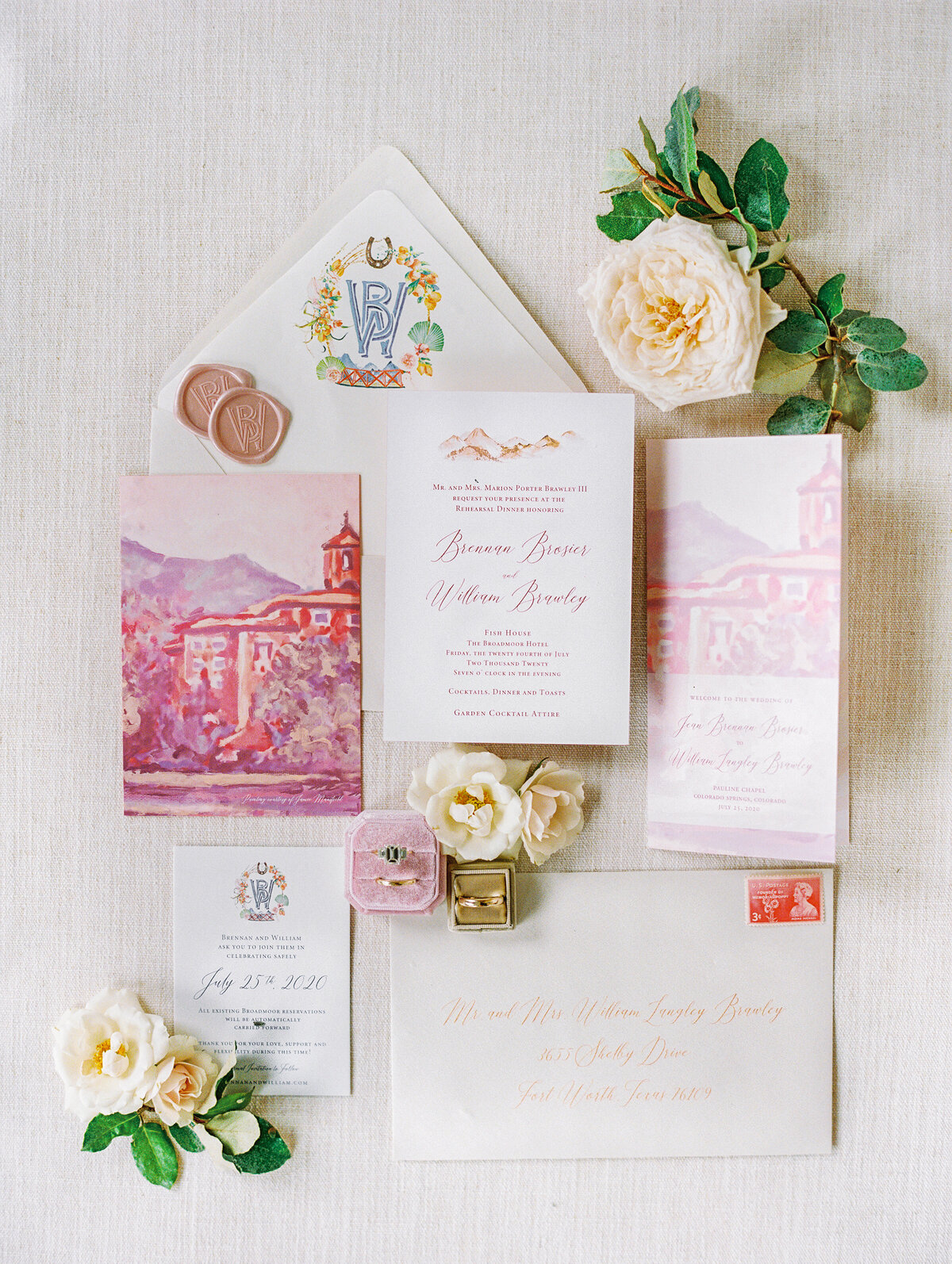 Wedding Invitation pink