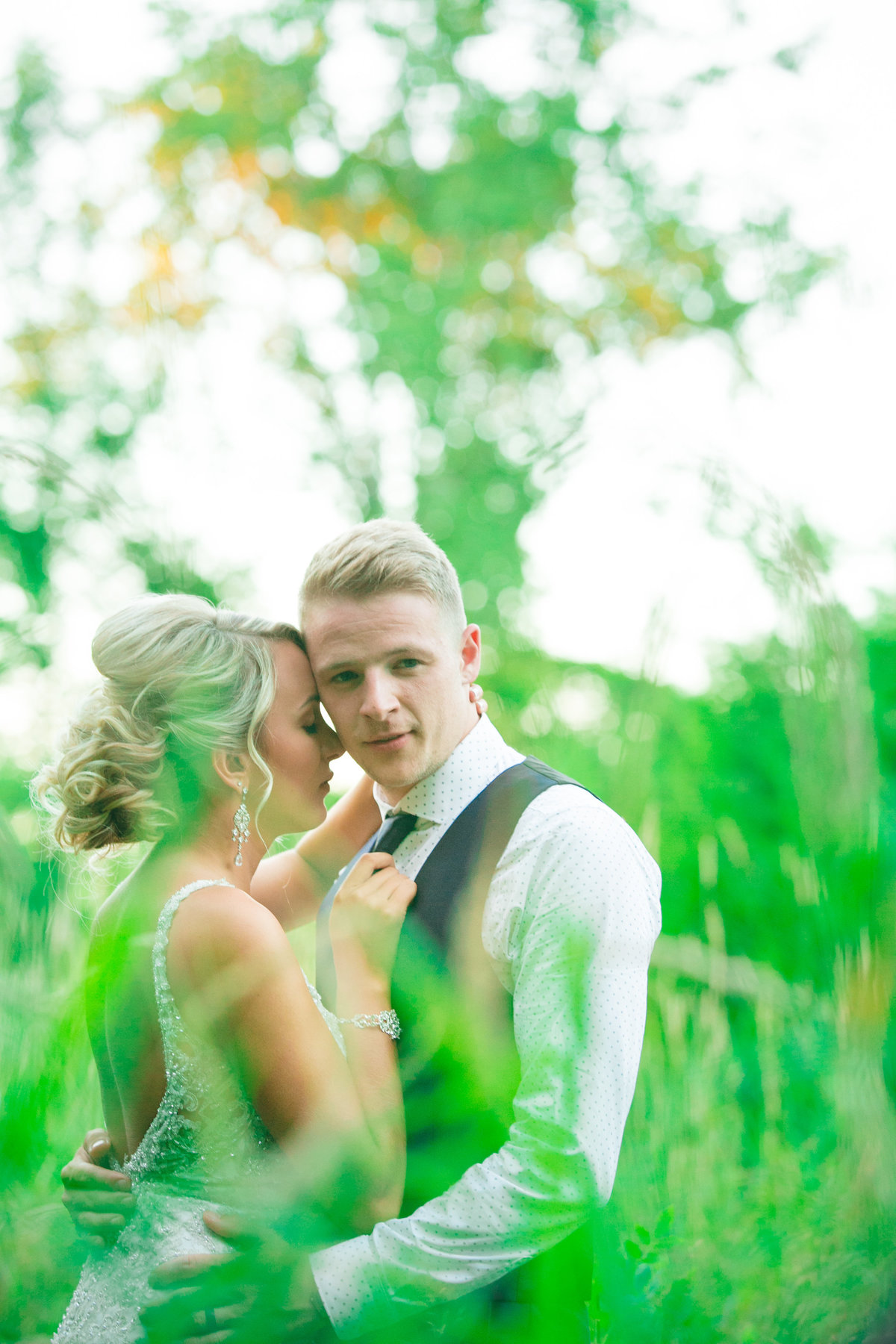Jordan & Taylor's Outdoor Wisconsin Northwoods Wedding Photos by Amenson Studio-0229
