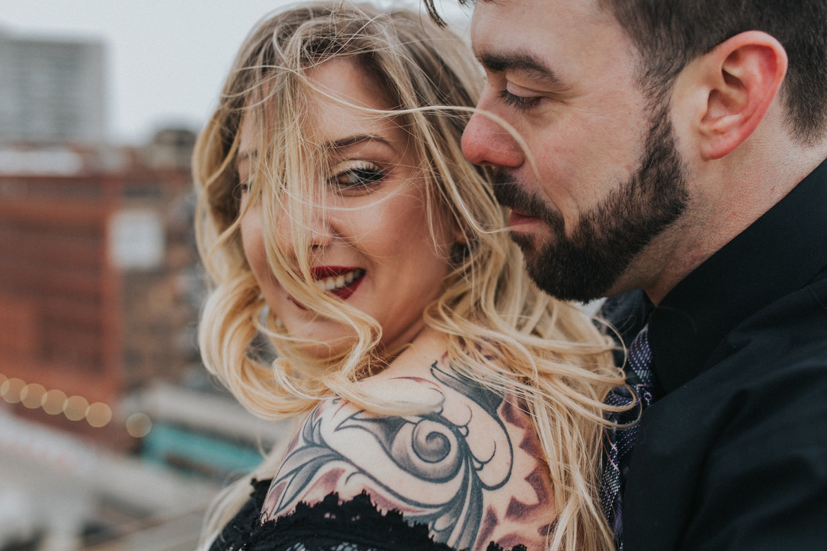 Summertime downtown Detroit Michigan engagement photos. All images by Adore Wedding Photography Loren and Mary Beth