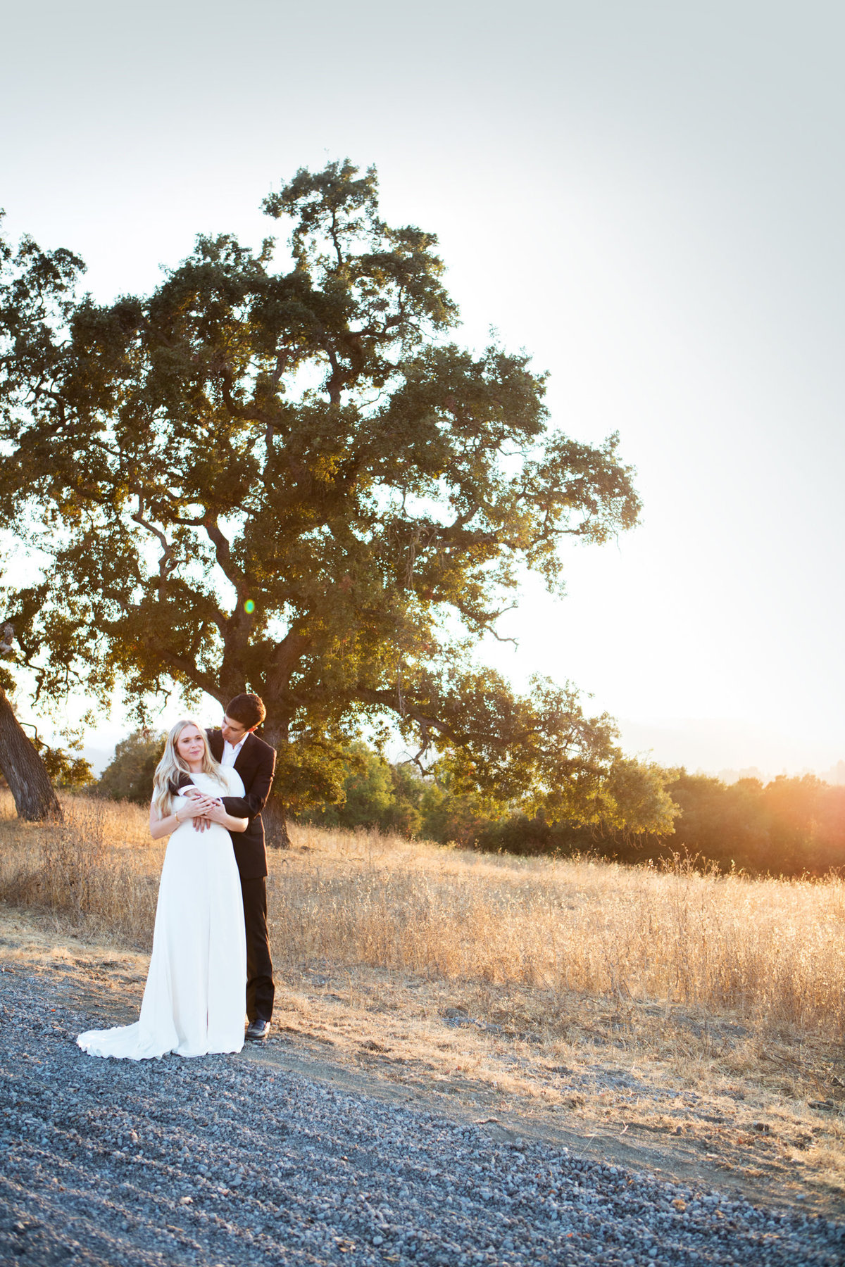 Sunset Wedding Photos at Arastradero Park Palo Alto